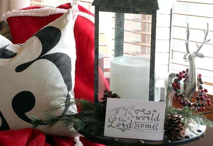 CHRISTMAS VIGNETTE AND FREE PRINTABLE
