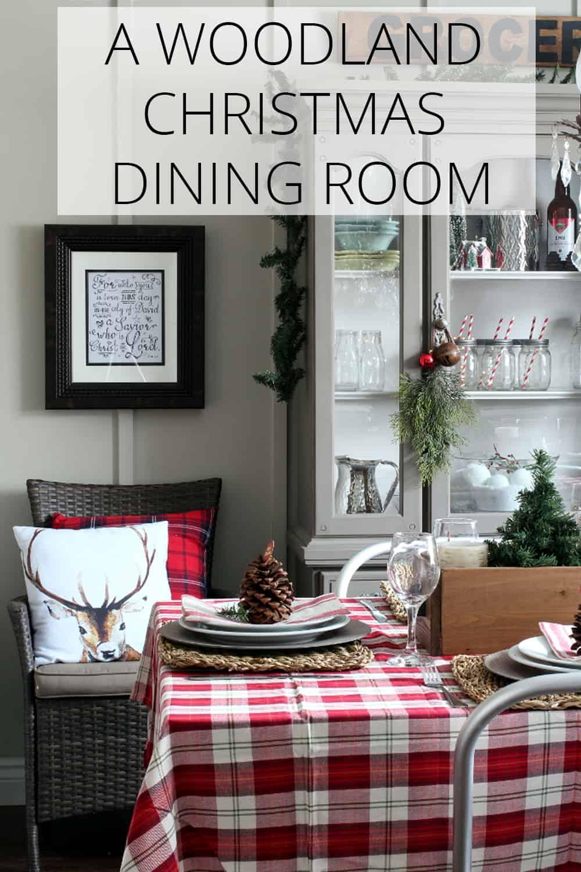 a woodland christmas dining room