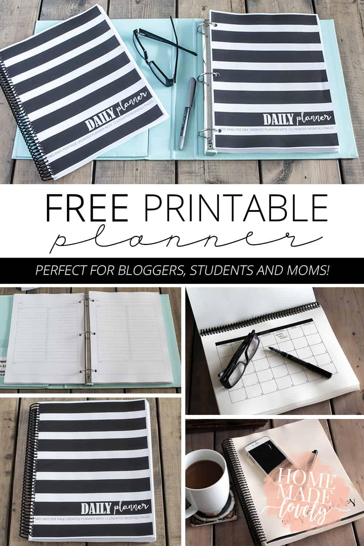 free printable planner dowload