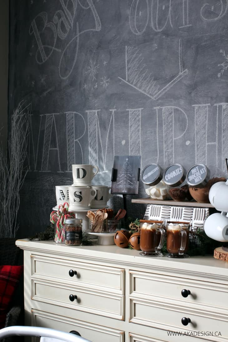 DINING ROOM CHALKBOARD WALL