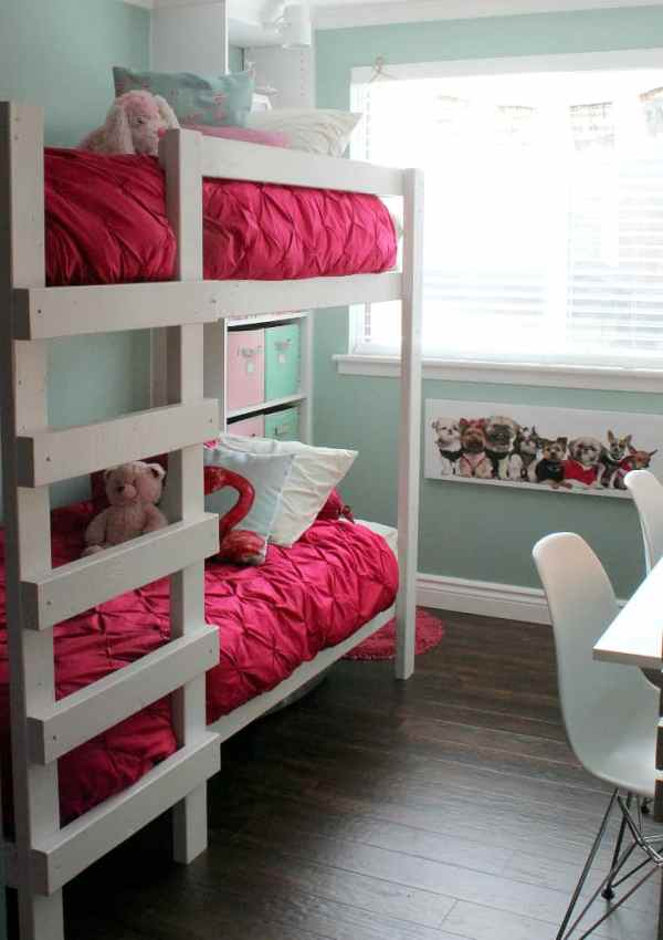 Girl's Room Makeover Reveal – with Built-in Storage!