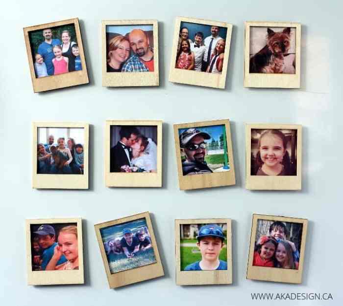 Wooden Polaroid Magnets