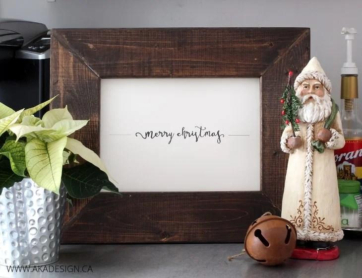merry christmas fancy framed