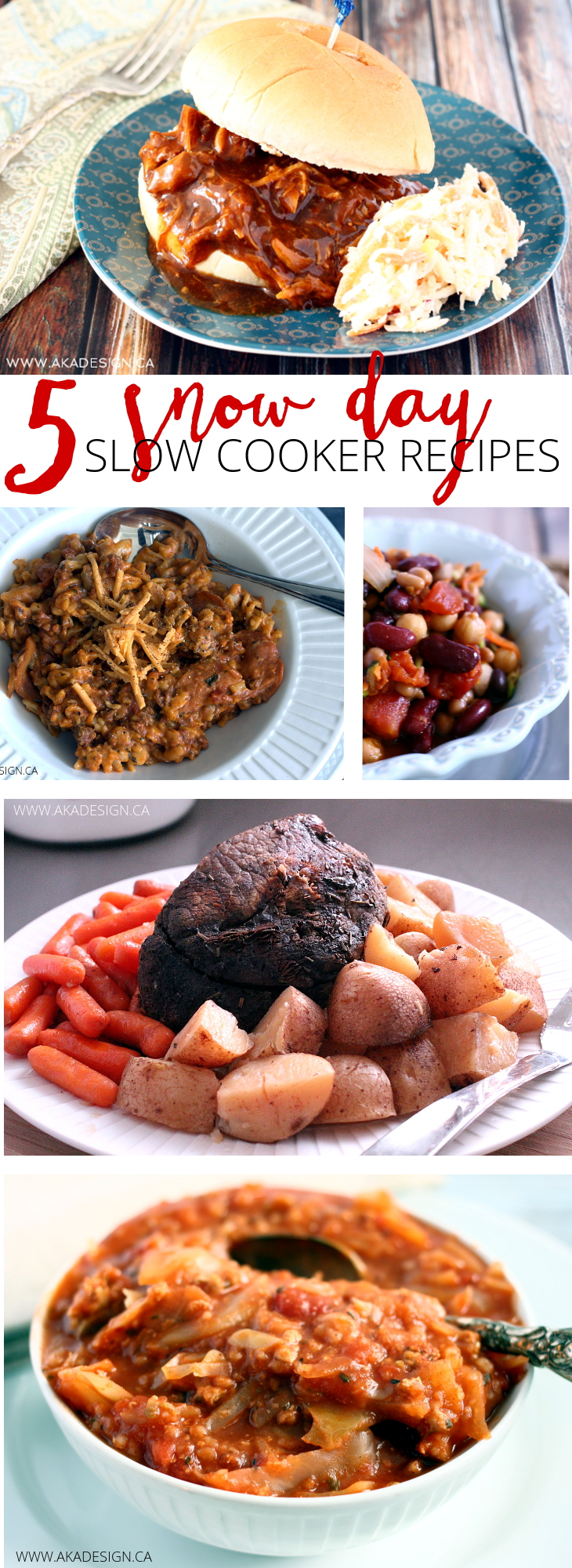 slow cooker meals for a snow day
