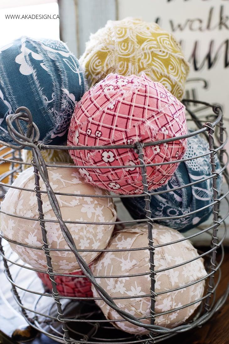 DIY rag balls