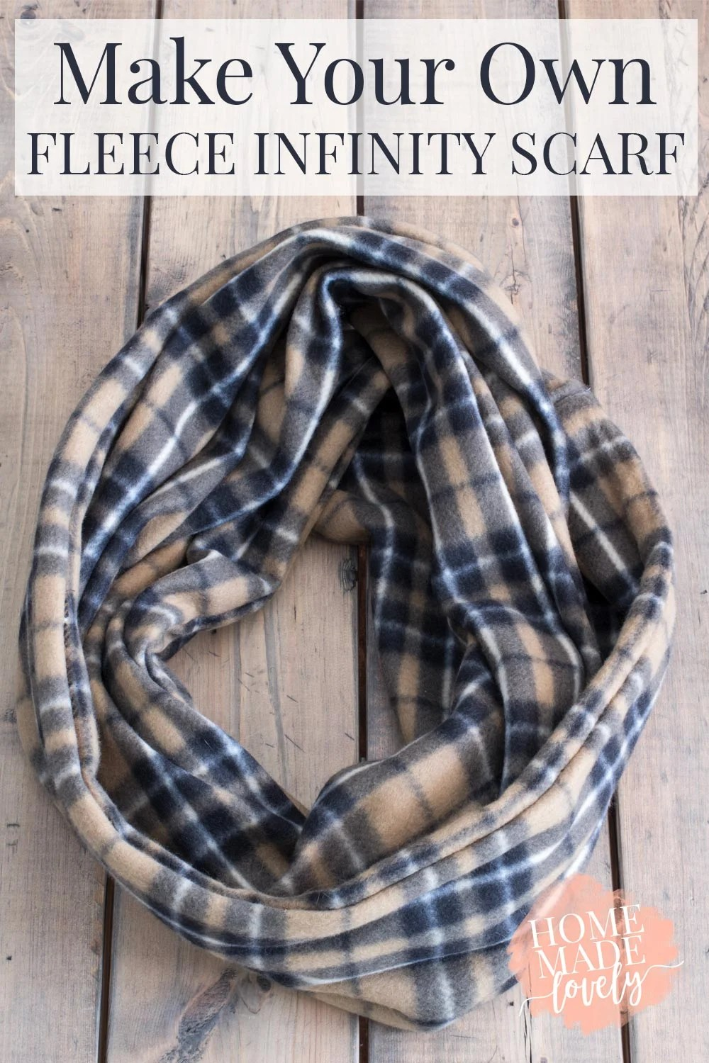 Make your own fleece infinity scarf and keep warm with me this winter!