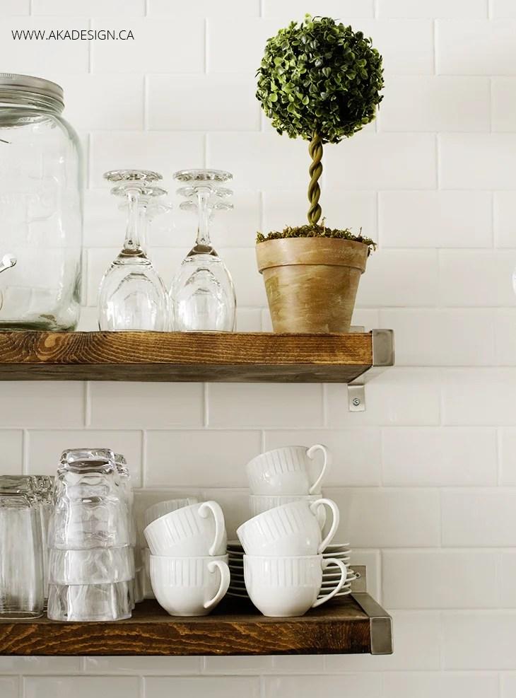 Open Kitchen Shelves