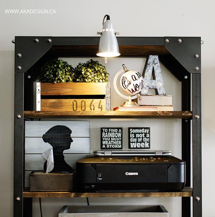 Styled Office Shelves