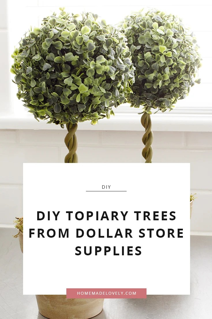 topiary trees from dollar store supplies