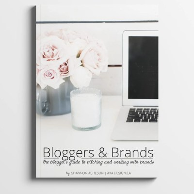 Bloggers & Brands. The blogger's (and influencers) guide to pitching and working with brands.