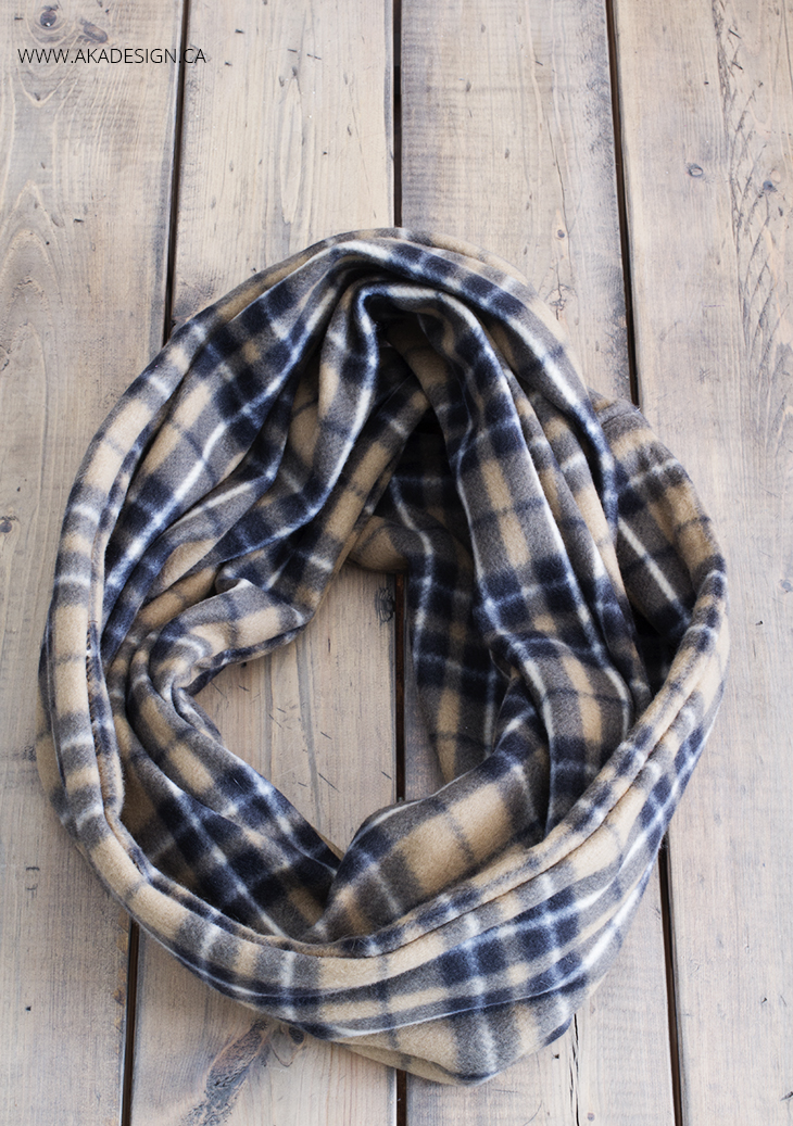 make your own fleece infinity scarf