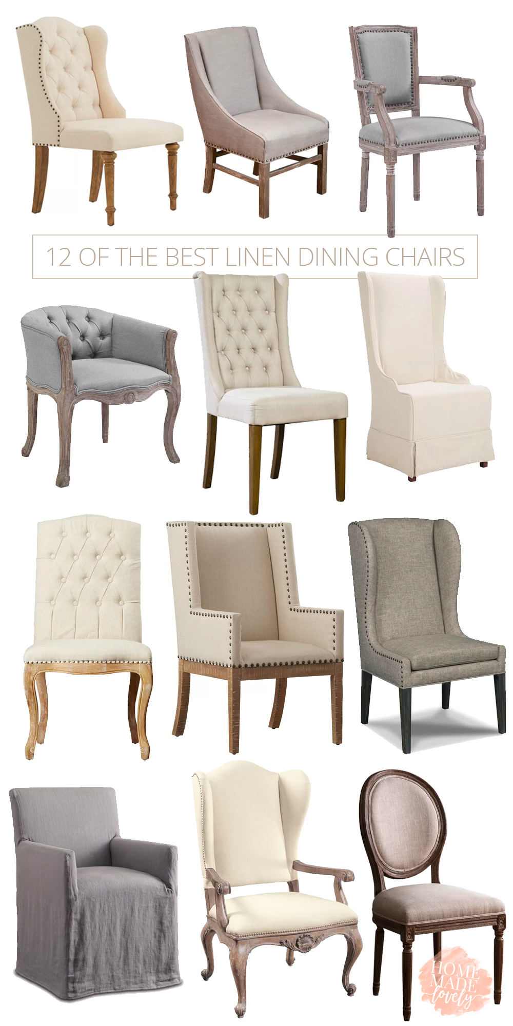 So just for fun and hopefully to help you out if youre looking for new dining room chairs ive rounded up my favorites here linen chairs