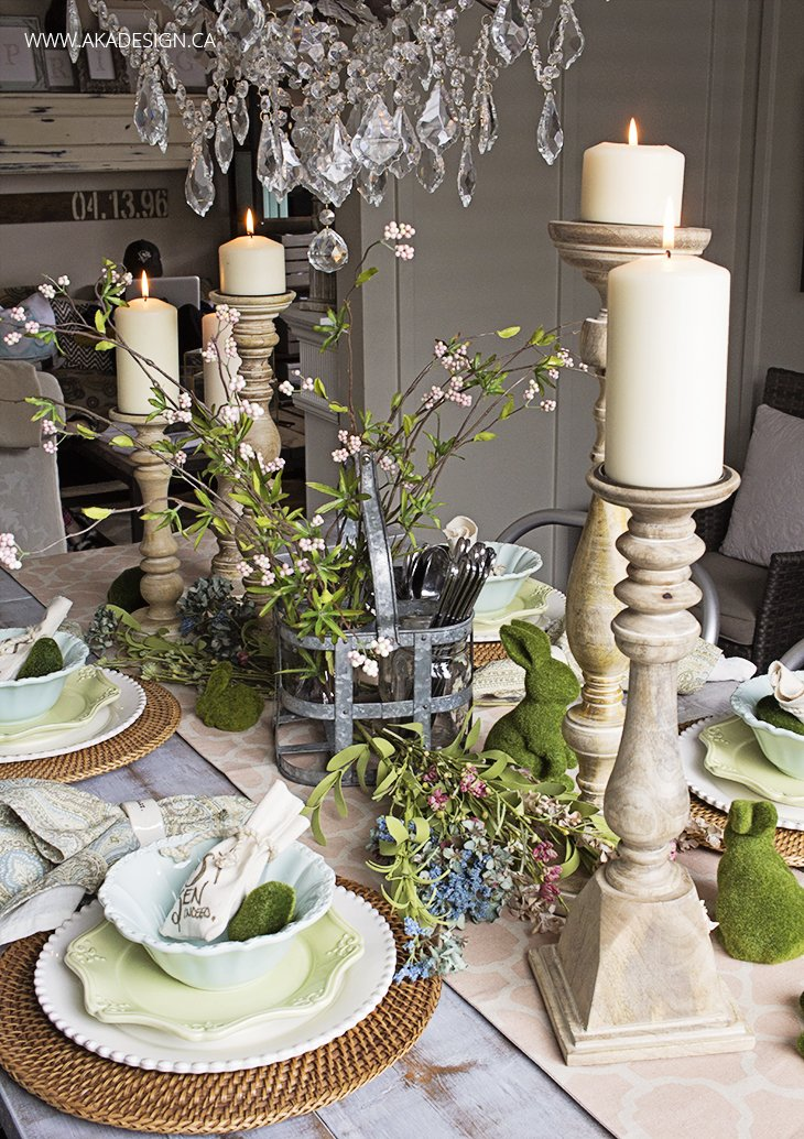 Rustic Spring Table Setting | www.akadesign.ca