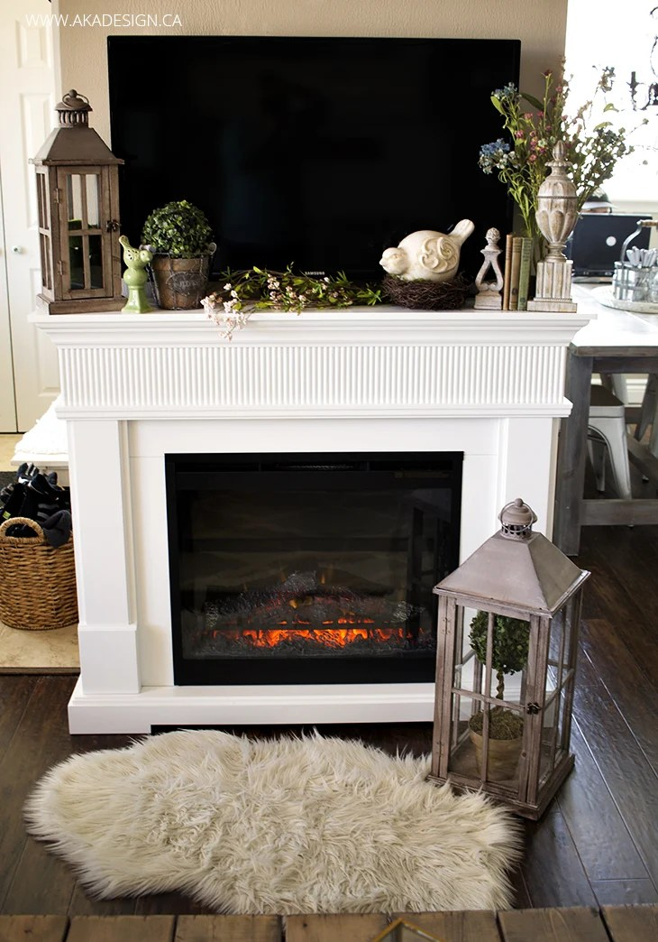Spring Fireplace Mantel