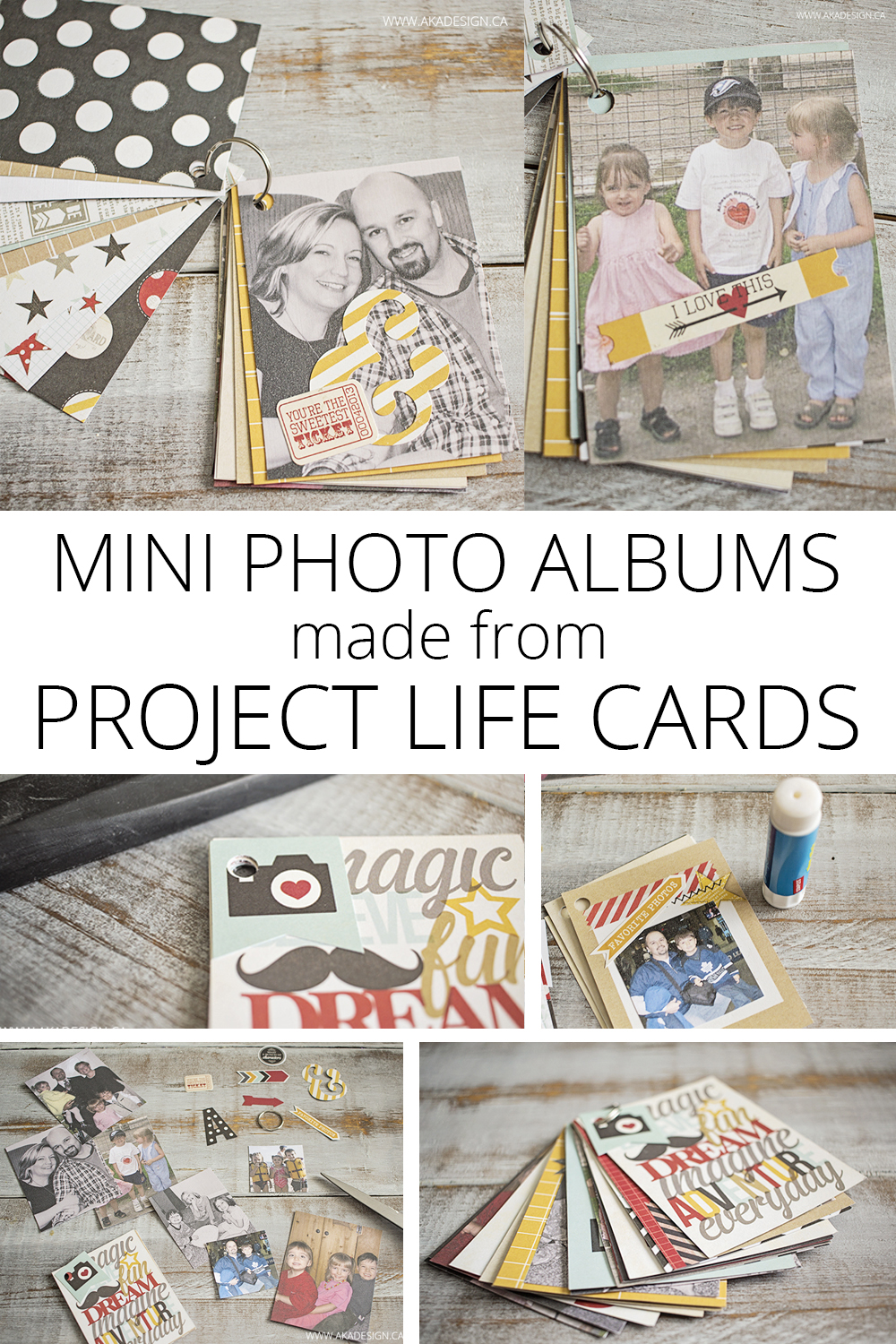 mini photo albums made from project life cards