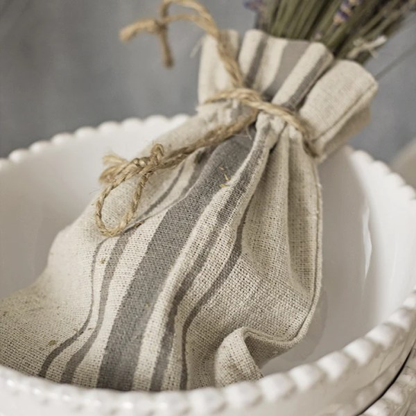 painted grain sack stripes