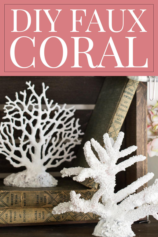 white painted aquarium coral as decor