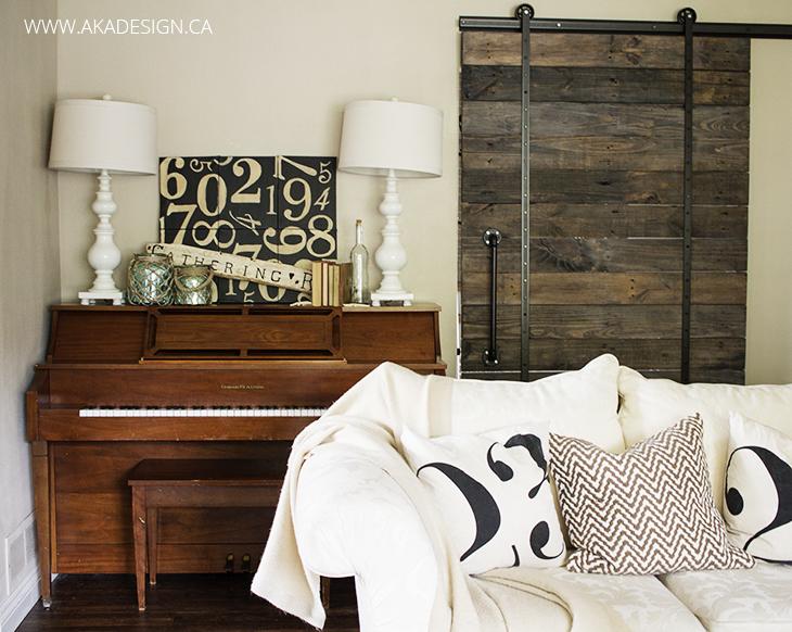 aka design piano and barn door