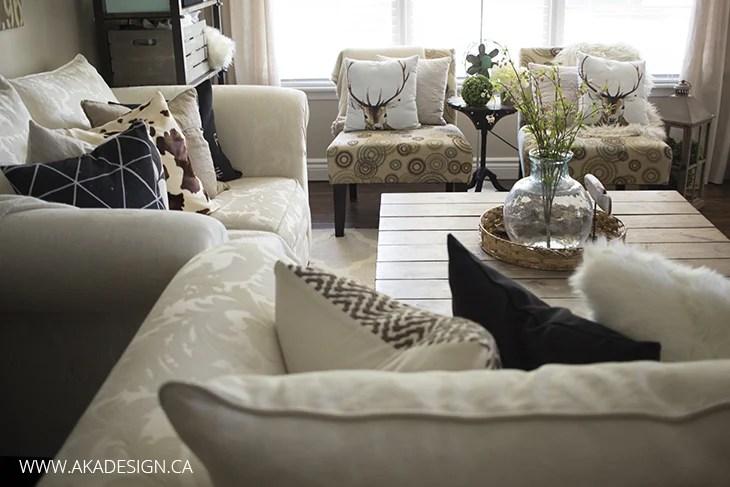living room - pillows