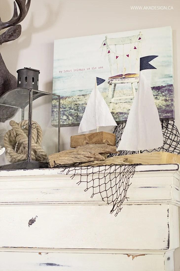 scrap wood sailboats