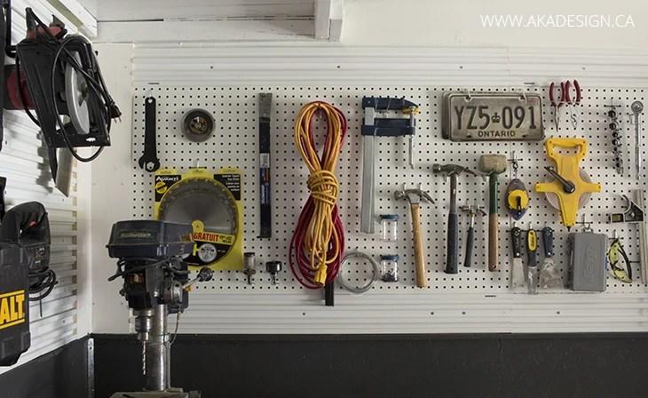 tool storage wall