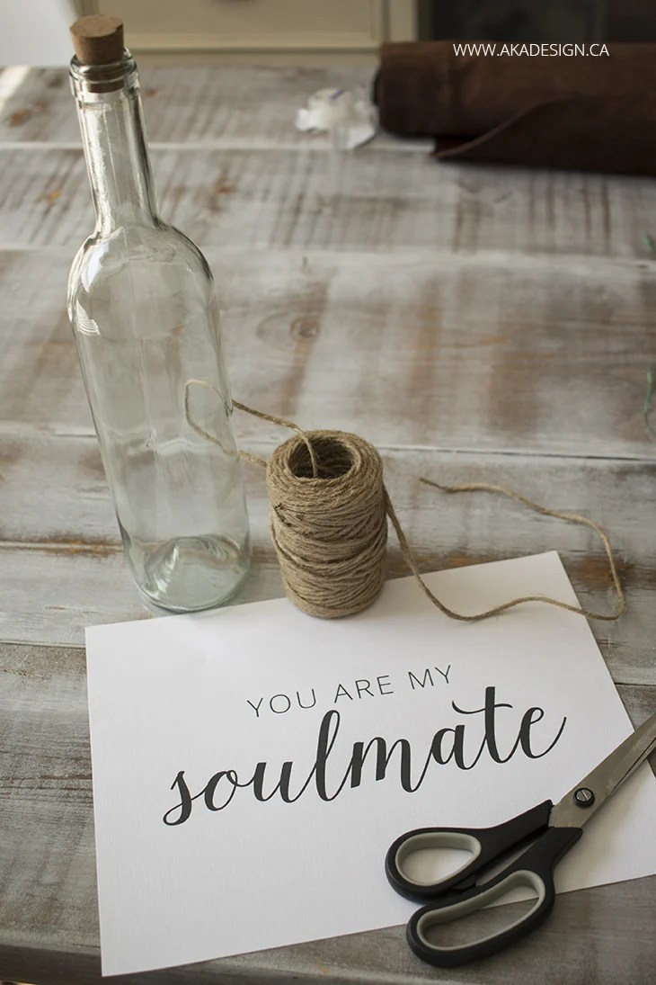 you are my soulmate with bottle and string