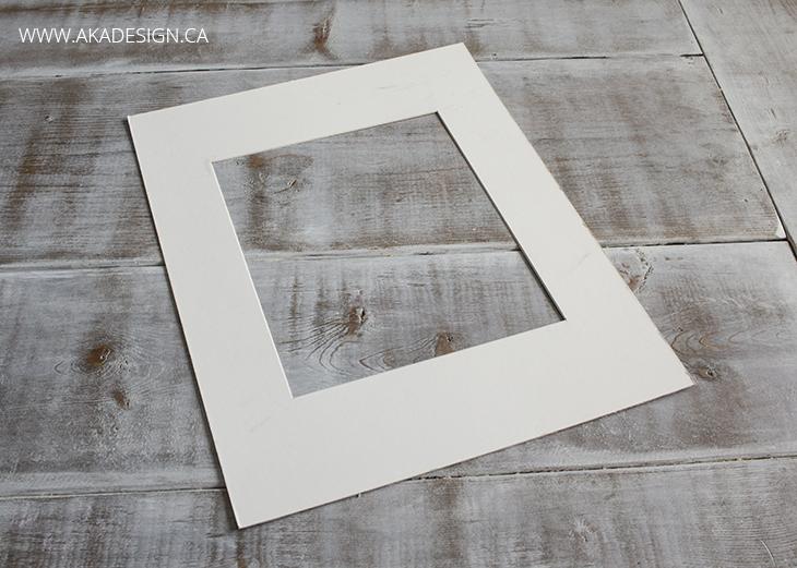picture frame matte