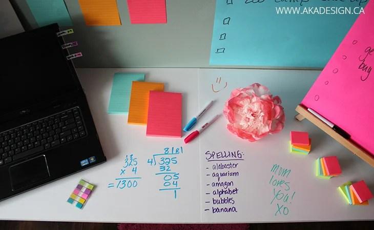 Post It Dry Erase Surface Desk Top