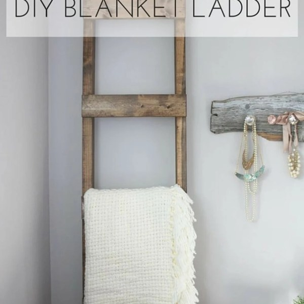 30 minute diy blanket ladder