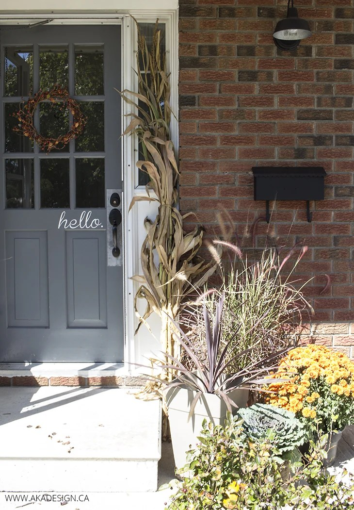 Home Made Lovely Fall Front Porch