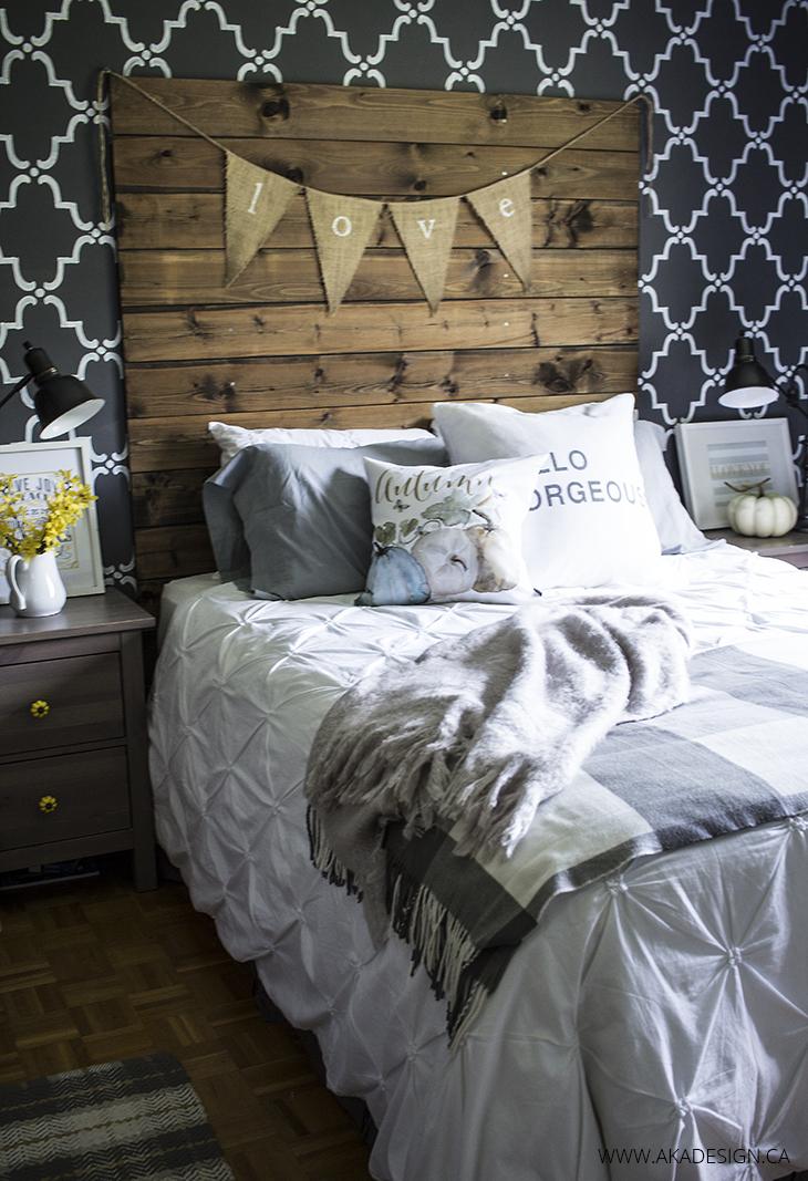 Home Made Lovely Fall Master Bedroom