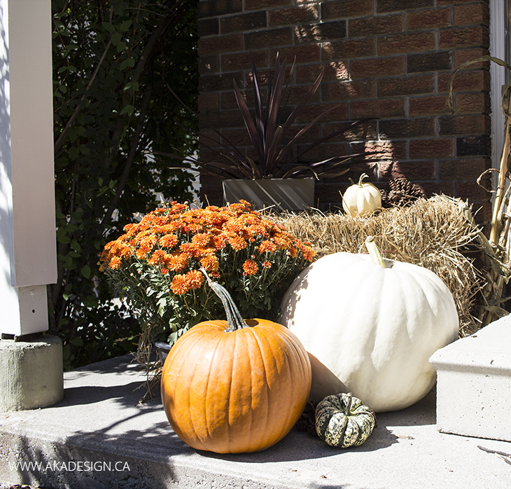 Home Made Lovely Fall Porch Pumpkins