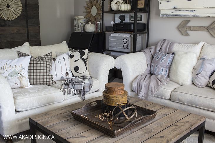 Home Made Lovely Living Room with Craftberry Bush Pillows