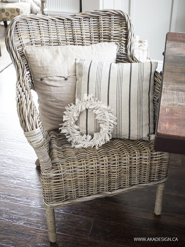 Home Made Lovely Rag Wreath for Blog Hop