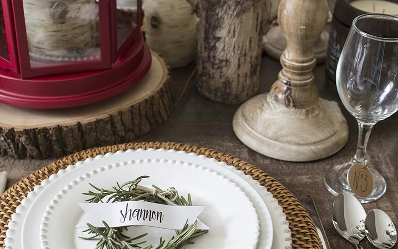 AKA Design Rosemary Wreath Place Cards on Plate 2 BLOG PIC