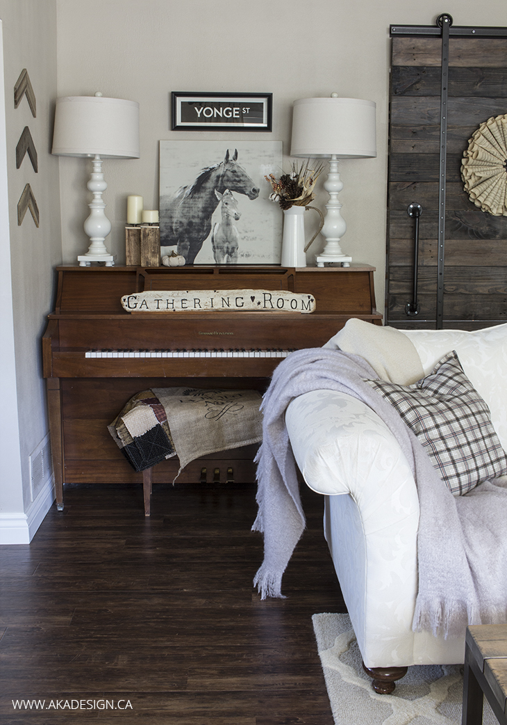 Home Made Lovely living room piano