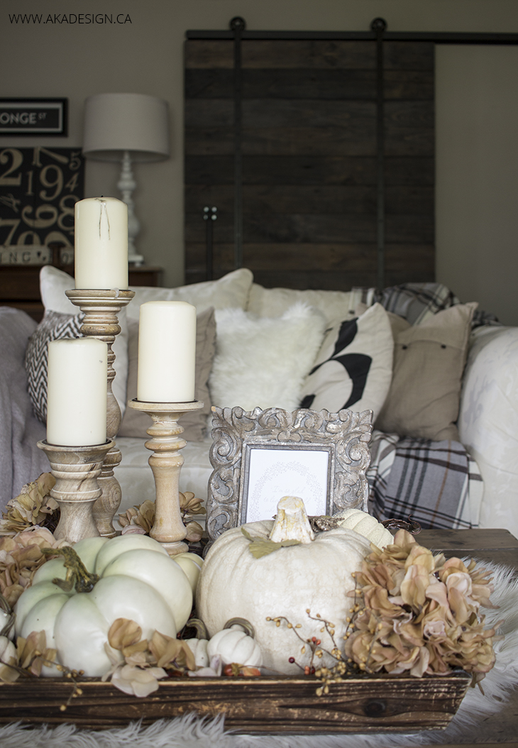 White fall decorating