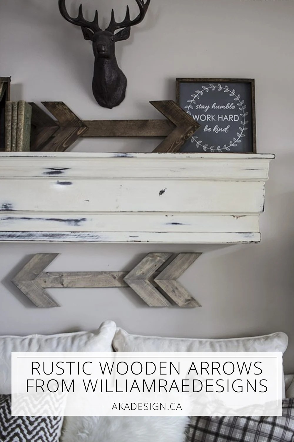 rustic wooden arrows from williamraedesigns