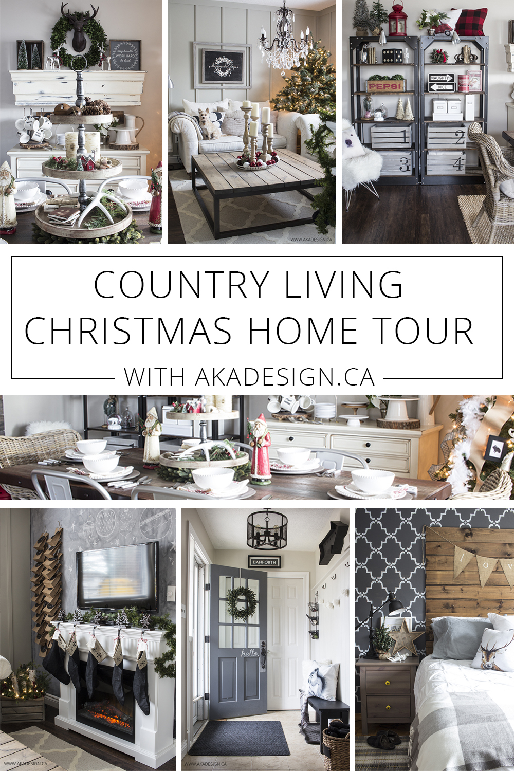 Country Living Home Made Lovely Christmas Home Tour