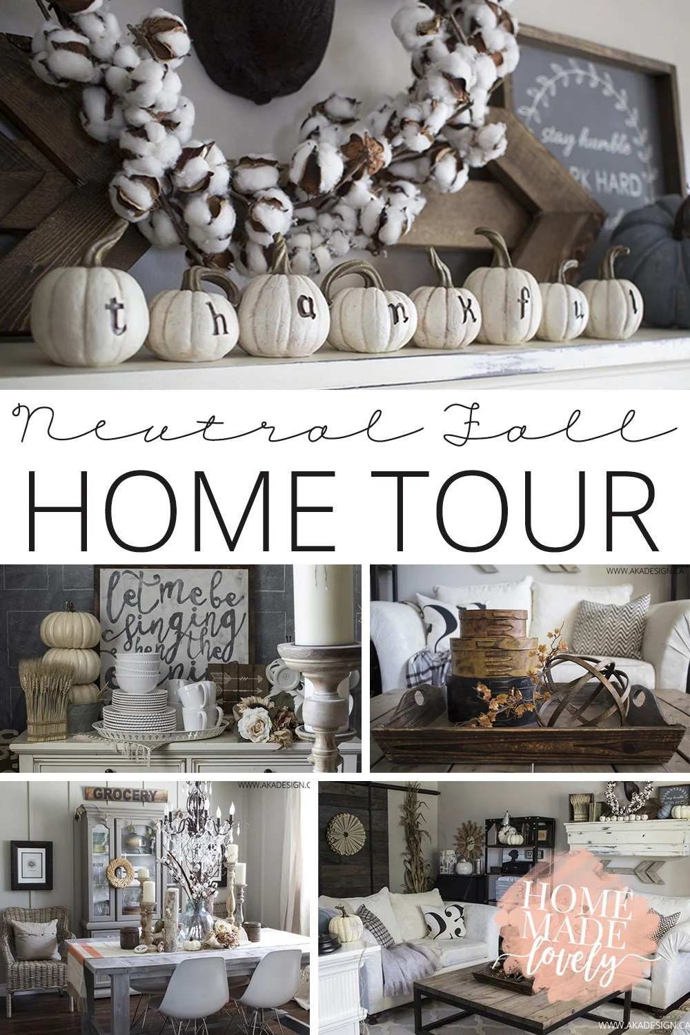 Neutral fall home tour pin
