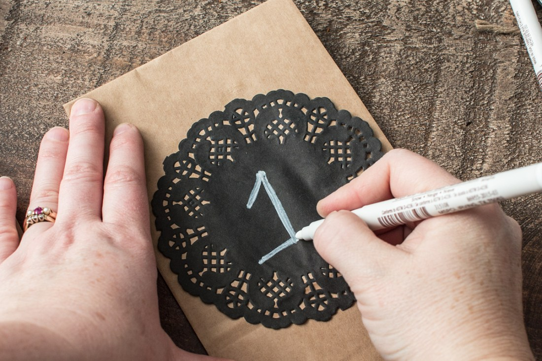 Advent Calendar Step 3 Write Numbers