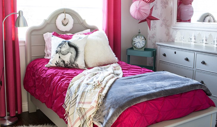 Home Made Lovely Girl's Bedroom Makeover Feature Image