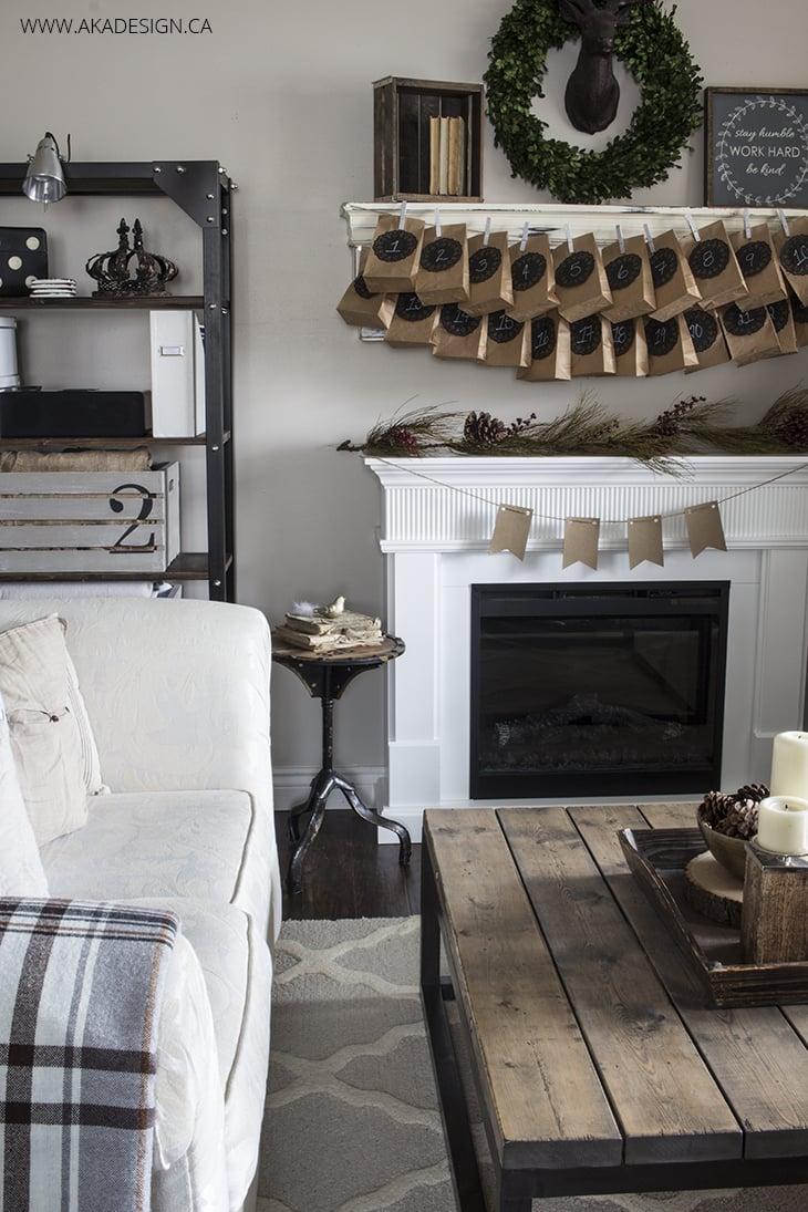 Home Made Lovely Living Room Neutral Christmas Decor