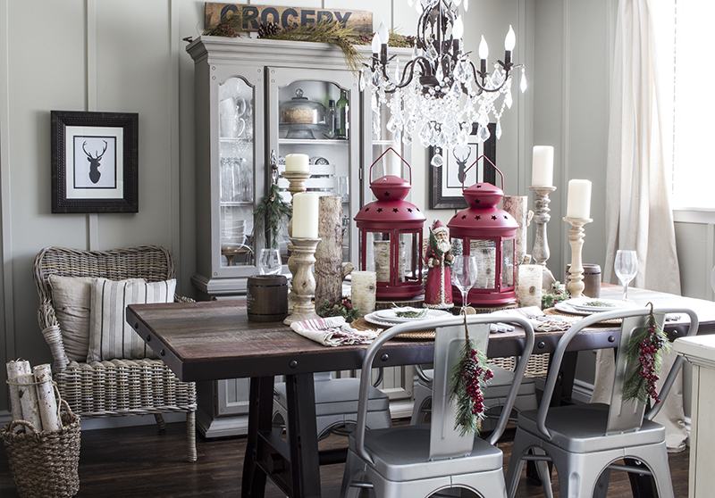Home Made Lovely Rustic Industrial Dining Room 3 and 4 BLOG PIC