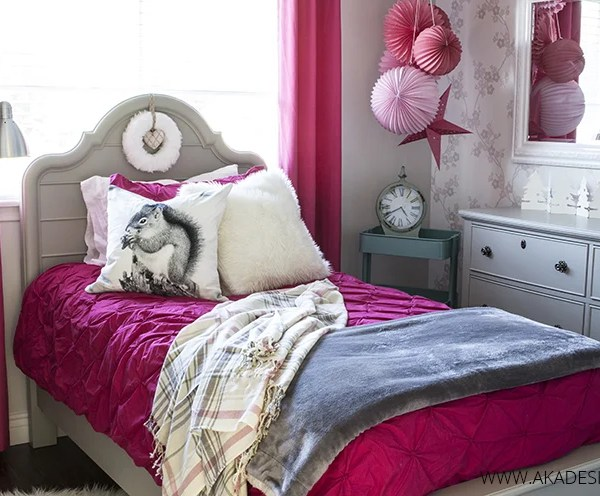 Neutral and Pink Teen Girl's Room Reveal (and Source List)