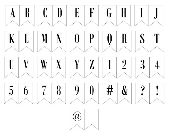 Free Printable Banner Letters NO Wreath Img