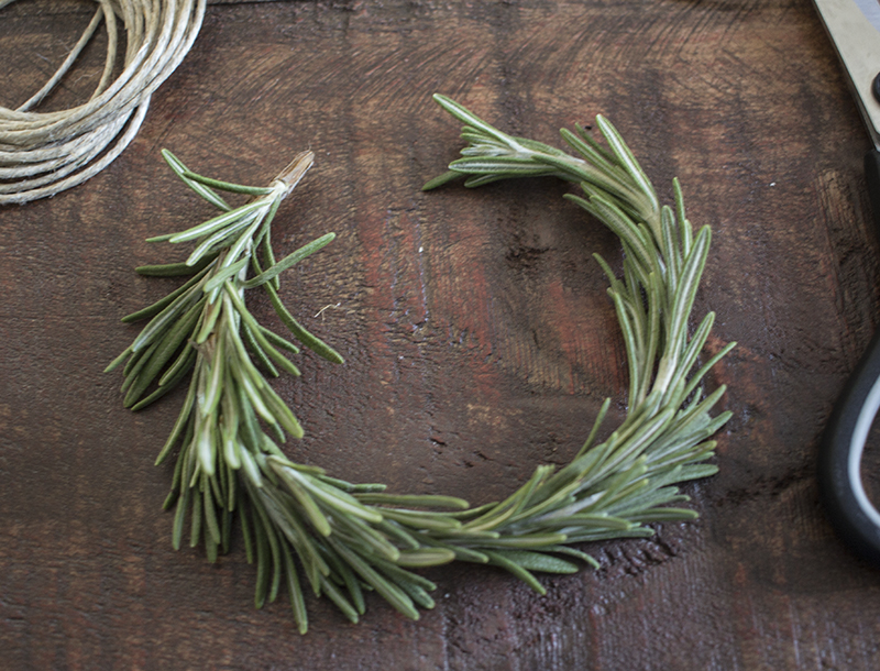 Home Made Lovely Rosemary Wreath Place Cards Bending BLOG PIC