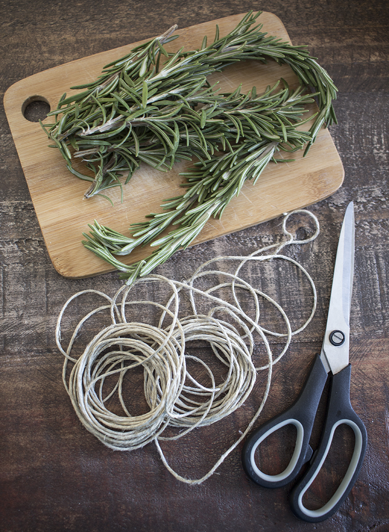 Home Made Lovely Rosemary Wreath Place Cards Supplies BLOG PIC