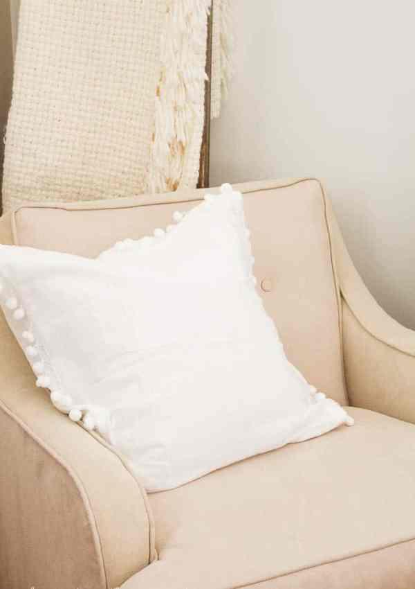 15 Minute Pom Pom Pillow
