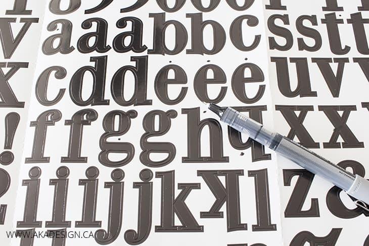 adhesive alphabet stickers